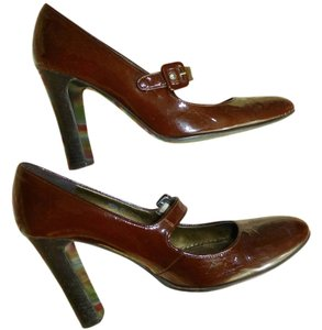 J.Crew Lacquered Leather Mary-janes Brown Pumps