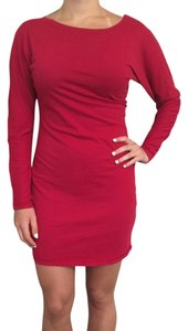 bobi short dress Red Longsleeve Knit Date Night Fall on Tradesy