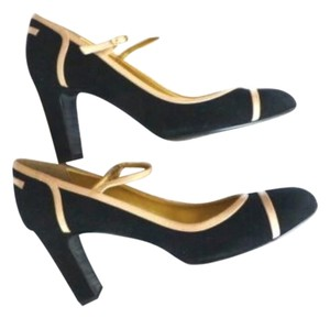 J.Crew Spencer Suede Leather Mary-janes Made In Italy Black Pumps