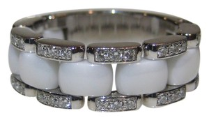 Chanel Chanel 18KT White Gold Diamond Ceramic Flexible Eternity Wedding Band Ring