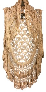Sioni Date Night Cardigan Vest Knit Top cream