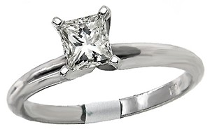 ABC Jewelry Princess Cut Diamond Solitaire Ring
