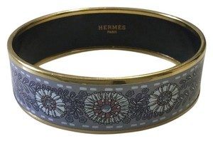 Herms Hermes Enamel and Gold Bangle