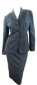 Calvin Klein Calvin Klein For Holt Renfrew Black Cotton and Spandex Skirt-suit Size 10