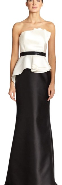 Item - Black White Evening Gown Long Formal Dress Size 4 (S)