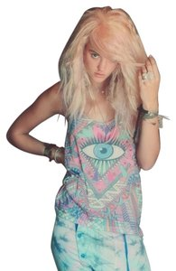 Wildfox Dreamy Psychedelic Print Top Multi