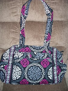 Vera Bradley Make A Changie Canterberry Magenta Black Gray Diaper Bag 9ada7aa9bd830