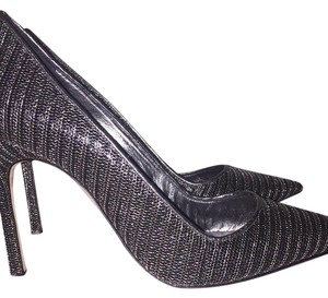 Manolo Blahnik Black, Silver Pumps