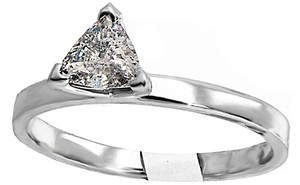 ABC Jewelry Trillion Cut Diamond Solitaire Ring