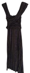 Tracy Reese short dress Black and Purple Anthropologie on Tradesy