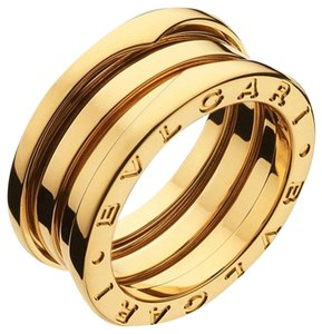 BVLGARI Bvlgari B.Zero1 18K Yellow Gold 3 Band Ring AN191023 US 9.25