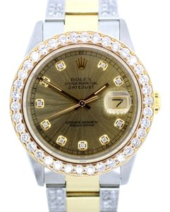 Rolex MEN'S ROLEX DATEJUST 7.5CT DIAMOND WATCH