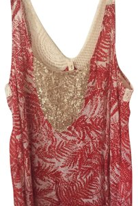 Anthropologie Top Red pattern