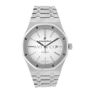 Audemars Piguet Audemars Piguet Royal Oak 41 Stainless Steel Watch White Dial
