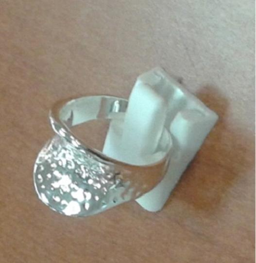 Other .925 Sterling Silver Hammered Thumb Ring Size 8