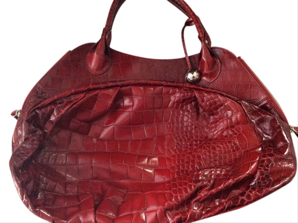 Furla Carmen Handbag Embossed Leather Made In Italy Hobo Bag