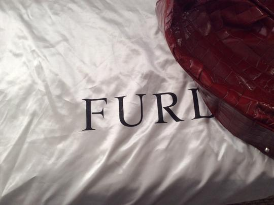 Furla Carmen Hand Embossed Leather Made In Italy Hobo Bag