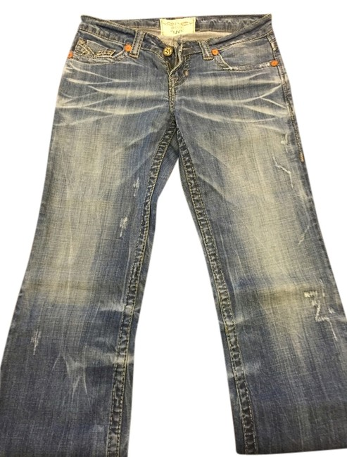 Item - Medium with Distressing Boot Cut Jeans Size 28 (4, S)