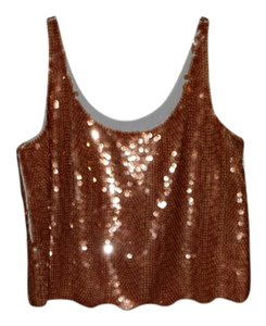 BCBG Max Azria Top rust sequined