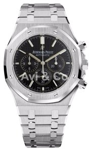 Audemars Piguet Audemars Piguet Royal Oak Chronograph 41 Steel Watch Black Dial