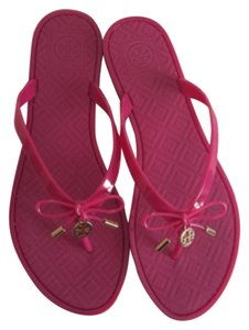 Tory Burch Jelly Flip Flops pink Sandals