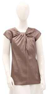 Vera Wang Silk Dressy Cap Sleeve Top Mauve