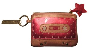 Louge Fly Louge Fly Cute pink wristlet keychain coin purse/wallet/ RARE