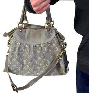 Louis Vuitton Denim Handbag Designer Shoulder Bag