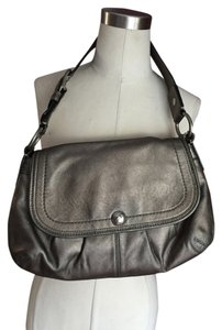 Coach F13729 Pleated Flap Shoulder Bag