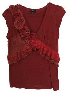 Deletta Anthropologie Top Burnt Orange