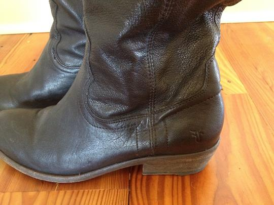Frye Leather Riding Carson black Boots