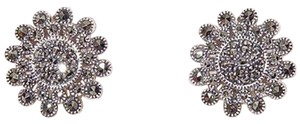 Judith Jack Sterling Silver Marcasite Floral Pierced Earrings