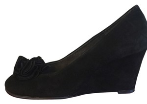 Aerosoles Wedge Comfortable Black Suede Wedges