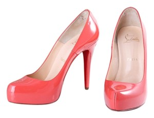 Christian Louboutin Coral Patent Leather Red Pumps