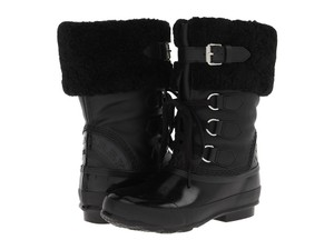Burberry Water-resistant Cold Weather Snowboot Rubber Winter Black Boots