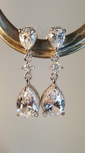 Gorgeous Cz Bridal Earrings