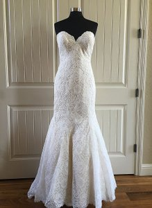 Allure Bridals Light Gold/Ivory Lace Mj168 Feminine Wedding Dress Size 14 (L)