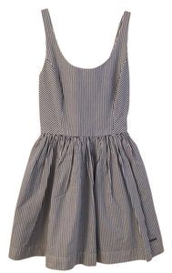 Abercrombie & Fitch short dress Navy blue and white striped on Tradesy