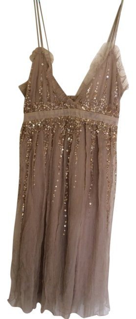 Item - Tan Nude None Night Out Dress Size 2 (XS)