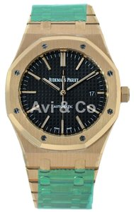 Audemars Piguet Audemars Piguet Royal Oak 41 Rose Gold Watch Black Dial