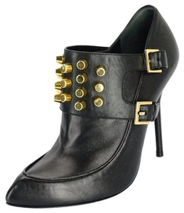 1fc963979 Gucci 041904 Buckles Pointy Toe Pumps Black Boots. Gucci Black Leather  Charlotte Studded ...
