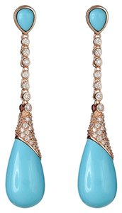 Christina Sabatini 18K gold Plated Aqua Cristina Sabatini Earrings