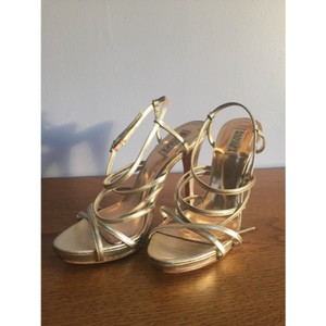 Badgley Mischka Ii Ii Platinum Gold Sandals