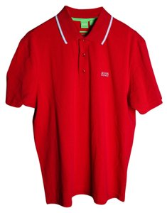 Hugo Boss Polo Gold T Shirt red