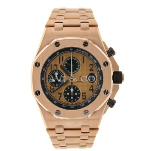 Audemars Piguet Audemars Piguet Royal Oak Offshore Chrono 42 Rose Gold Watch Pink Dial
