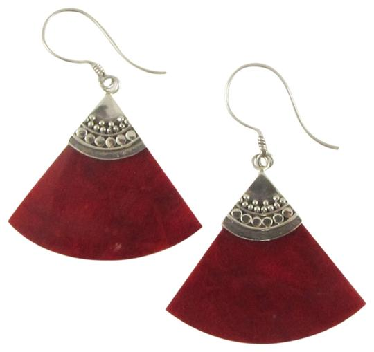 Island Silversmith Island Silversmith Genuine Red Coral 925 Sterling Silver Chandelier Earrings 0701D *FREE SHIPPING*