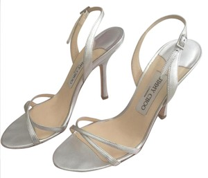 Jimmy Choo Silver metallic nappa Sandals