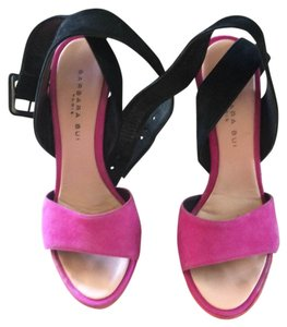 Barbara Bui Black, pink, salmon and black Platforms