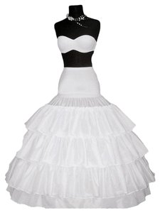 Merry Modes Four-bone Hoops Gripper Waist Crinoline GW1275 White Size M/L