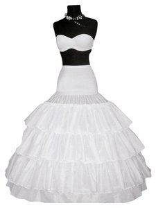 Merry Modes Four-bone Hoops Gripper Waist Crinoline GW1275 White Size S/M